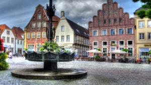 Blick auf den historischen Marktplatz