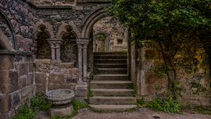 Abbaye Beauport -Innenhof