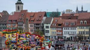 Erfurt Domplatz - 1. Station unserer Städtetour